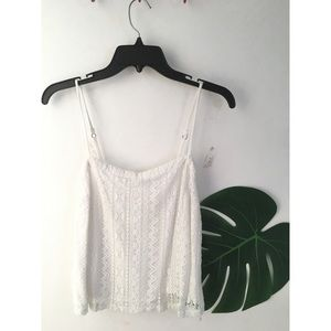 Hollister~ White tank top